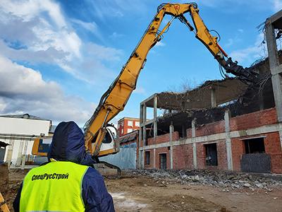 Частичный демонтаж здания